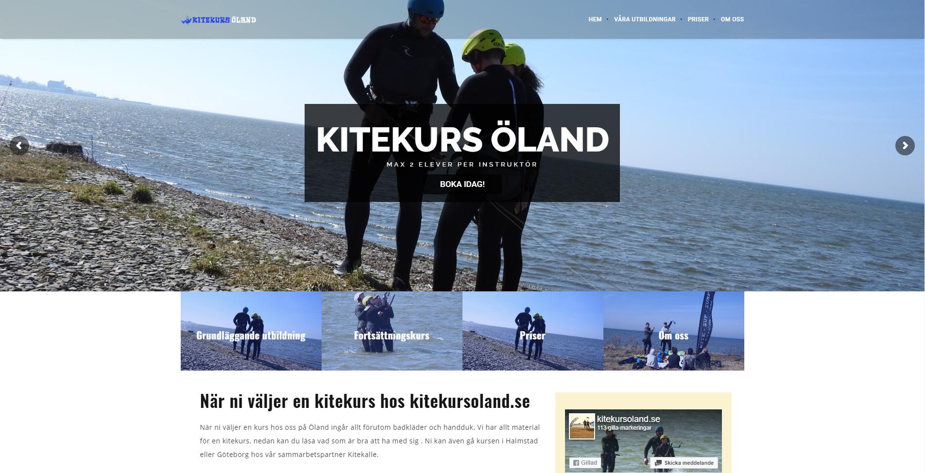 Webbproduktion av Kitekurs Öland